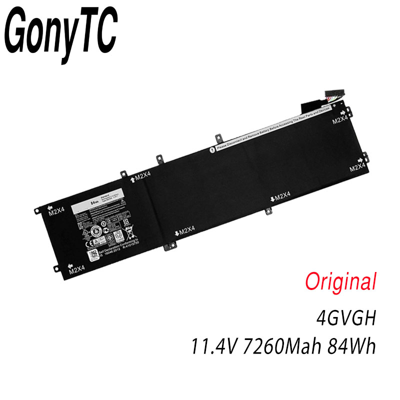 Original New 4GVGH Laptop Battery for DELL Precision 5510 XPS 15 9550 series 1P6KD T453X 11.4V 84WH Genuine battery image