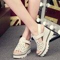 2016 Platform Pumps Fashion Sexy High-Heeled Shoes Square Heels Round Toe Platform Shoes Women's Size 391-2VE