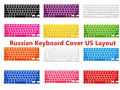 "US Russian Letters Keyboard Film protector for Macbook Air Pro Retina 13"" 15"" 17"" Laptop Skin Covers for Mac book 13 15 Gel case"