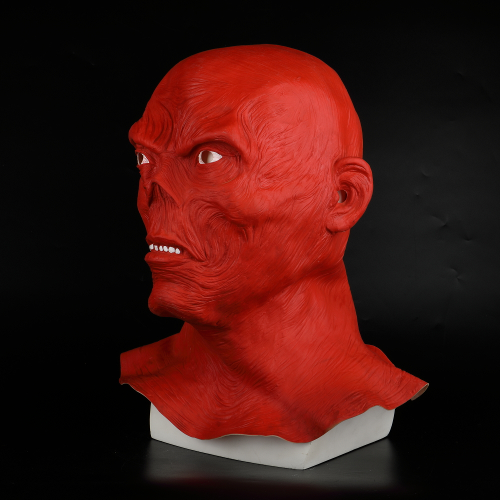 Star Wars Horror Full Head Masquerade Red Skull Hood Latex Mask Halloween Cosplay Zombie Mask New (4)