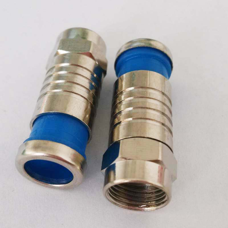 RG6 Coax compression cable f connector RG6 waterproof f-type plug RF coaxial connector RG59 RG6 RG11 f adapter Coax compression