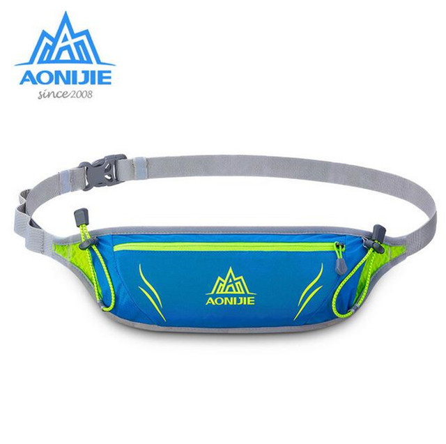 AONIJIE Men Women Running Waist Pack Ultralight Nylon Outdoor Sports Racing Hiking Gym Fitness Anti-theft Money Belt Hip Bag
