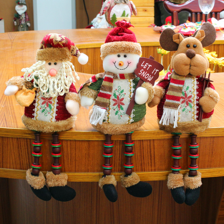 Home & Garden Topaty Christmas Santa Claus Snowman Elk Xmas Ornaments Kids Dolls Gadgets Swing Cloth Christmas For Home Decoration