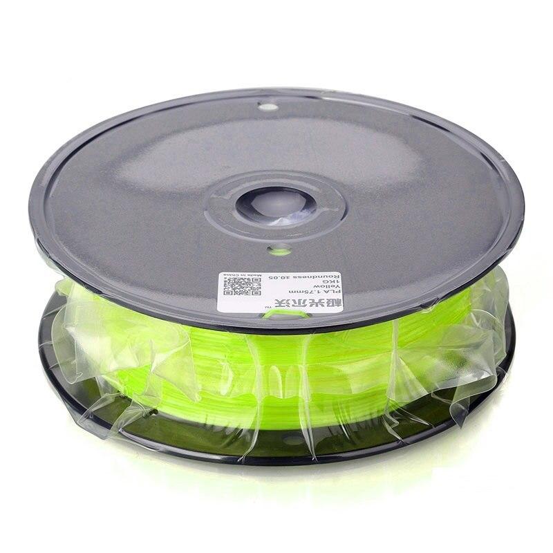 JGAURORA 3D מדפסת פילמנט ABS 1.75mm 1kg חומרים להדפסה 3D 10 צבעים להמיס נקודה 220-260C עם אפור / שחור / שקוף