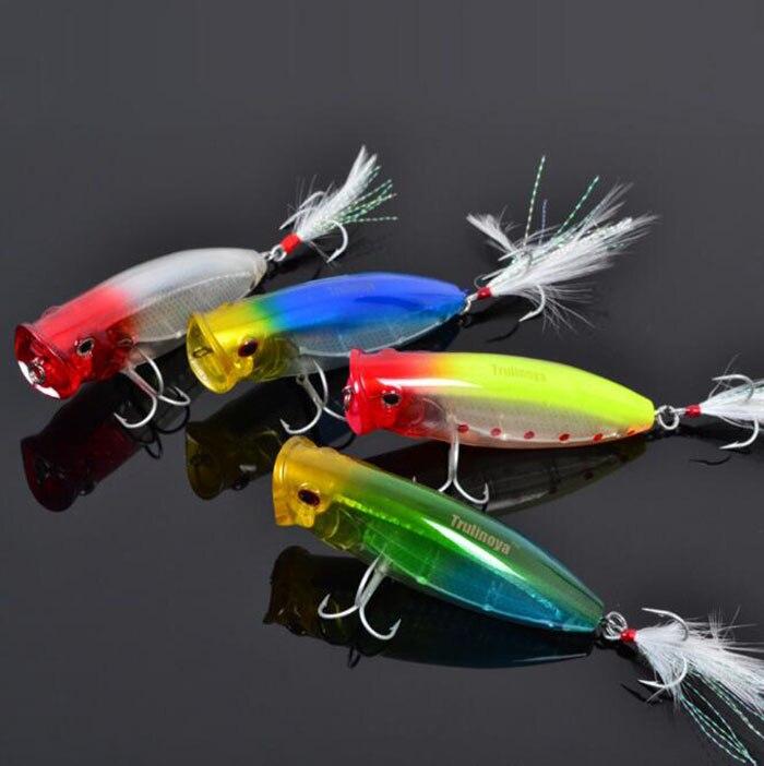 Trulinoya DW14 80mm/20g Hard Fishing Lure Top Water Popper ...