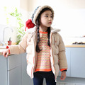 Top Quality Winter Girls Hooded Coat  Warm Zipper Winter Coat For Girls Kids Padded Jacket Casual Children's Outerwear 4-12yrs