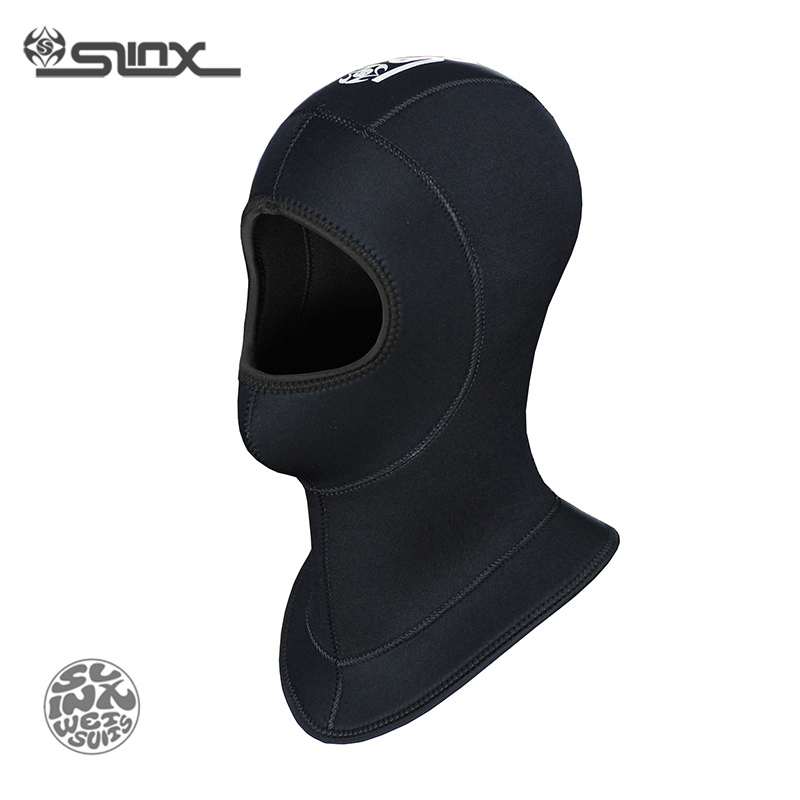 SLINX 1308 5mm Neoprene Impermeabile Scuba Diving Hat Attrezzature Pesca subacquea Pesca Snorkeling Swim Neck Maschera Full Face Hood Cap