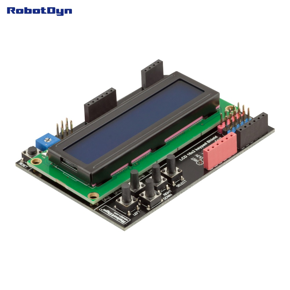 LCD Keypad Shield, 1602 Display, For Arduino LCD Shield BLUE SCREEN
