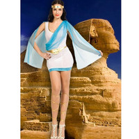 2019 Sexy Arab and India Girl Costumes Egyptian Goddess Queen Cleopatra Costume Adult Halloween Masquerade Party Dress 9877