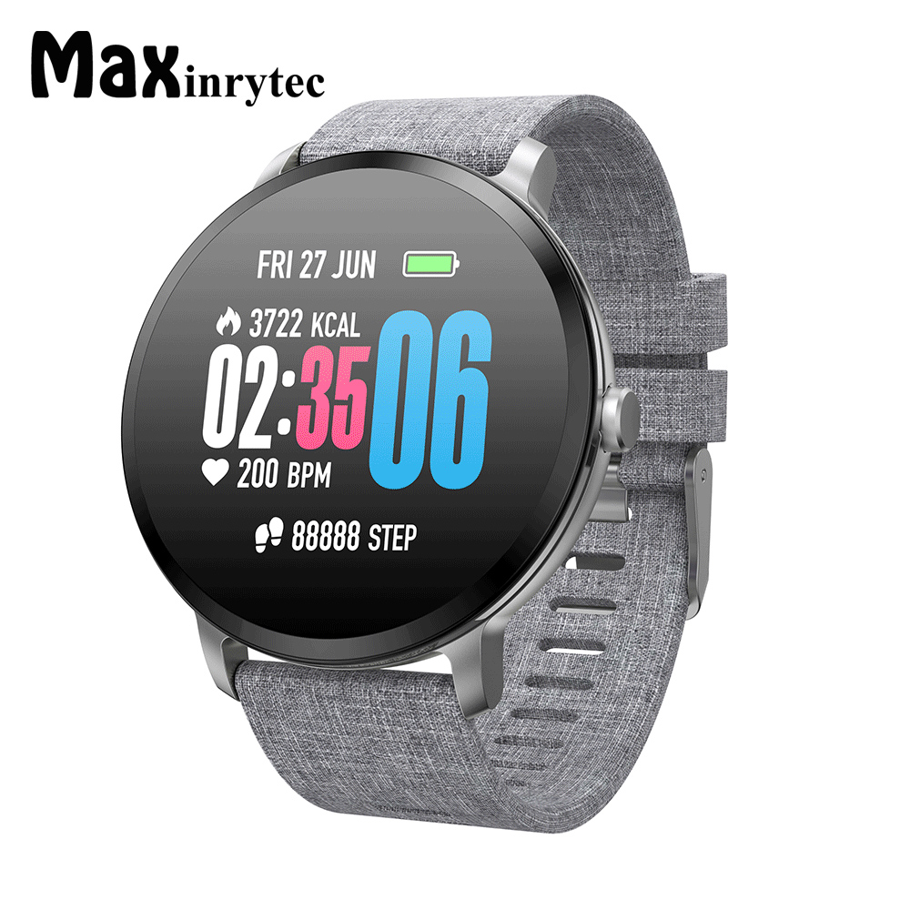 Maxinrytec V11 Smart Watch Android IOS IP67 Waterproof Activity Fitness Tracker Heart Rate Monitor BRIM Men Women Smartwatch