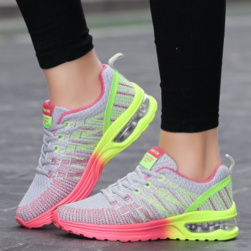 Sneaker Woman Outdoor Comfortable Couple Shoes Lightweight shoe laces Mesh casual Women High Quality shoes 2018 tenis feminino plus size casual women shoe mesh breathable sneaker female light summer couple shoes free shipping gold silver black huarche