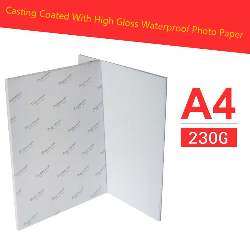 Купить с кэшбэком new arrival 40 Sheets Glossy 180 g A4 A3 4x6 Photo gloss coated waterproof Paper For Inkjet Printer Paper Supplies Printing