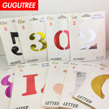 Decorate 16inch 32inch 40inch number letter foil balloons wedding event christmas halloween festival birthday party PD-103