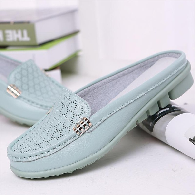 7ad7a3dc134e1 MVVJKE Spring breathable sandals slippers bigger sizes in baotou leisure  antiskid pregnant women shoes half dragged mother nurse-in Low Heels from  Shoes on ...