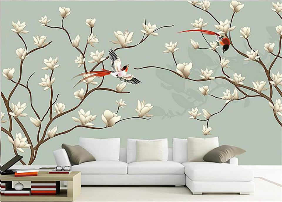 custom 3d photo wallpaper kids room mural Pure fresh and the plum blossom painting TV background non-woven wallpaper for wall 3d beibehang lovely abc print kid bedding room wallpapers ecofriendly fantasy non woven wall paper children mural wallpaper roll