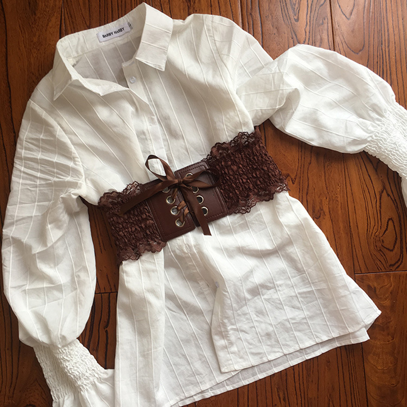 Awaytr 2020 Novelty Vintage Women's Elastic Wide Belt Stretchy Corset Female Black Waistband Belts For Lady Dress Accessories