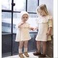 2016 otoño invierno de los bebés ropa de bebé niñas vestidos de invierno outwears bebé para el invierno knited vestido vetement enfant bebe fille