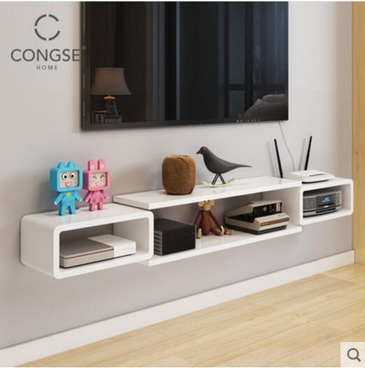How To Decorate Living Room Wall Shelves Window Seat Ideas Tv Shelf Hanging Cabinet Bedroom Decoration Partition Set Top Box
