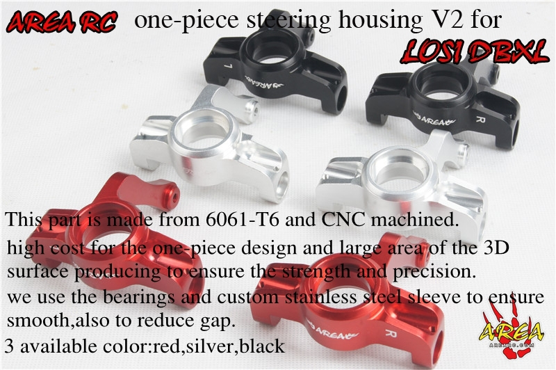 Free Shipping!!! Area Rc One-piece steering housing V2 for LOSI DBXL цена 2017