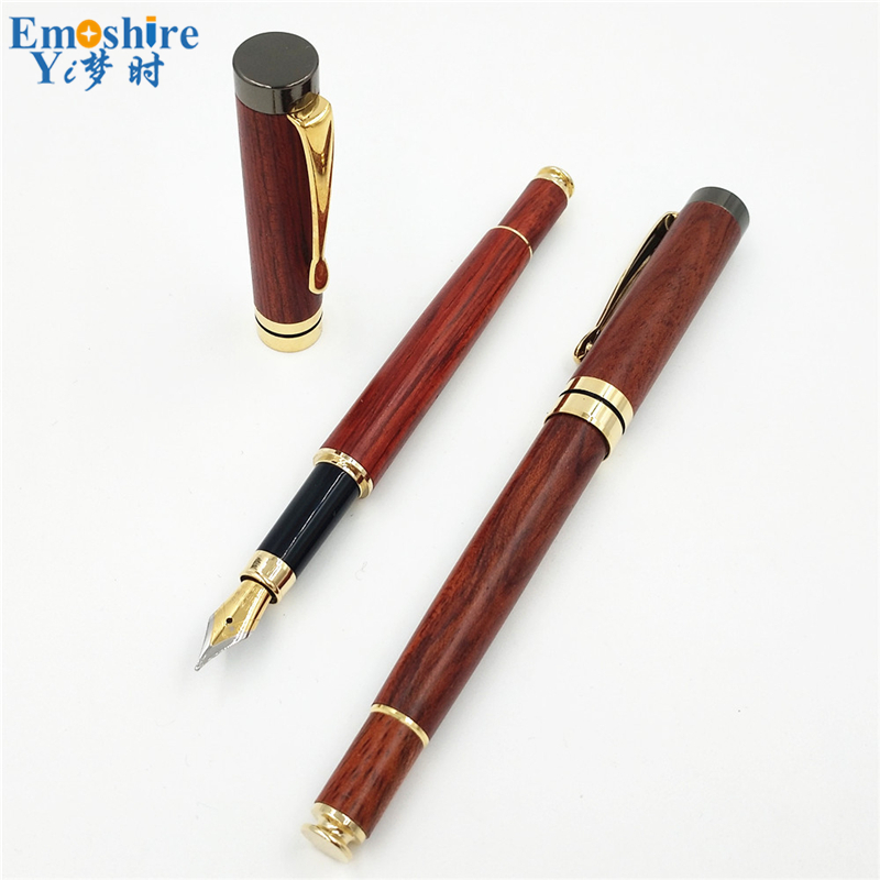 Top Free Shipping Promotional Original Brand Wood Fountain Pen For Calligraphy Writing Fountain Pen Without Pencil Case P204 italic nib art fountain pen arabic calligraphy black pen line width 1 1mm to 3 0mm
