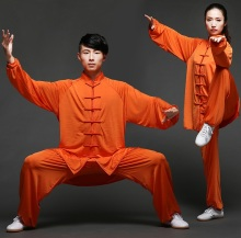 купить Chinese Kung fu Taiji Suit Tai Chi Uniform Martial Arts Performance Wushu Shao Lin Clothes Mens Womens Morning Exercise Suits по цене 3550.95 рублей