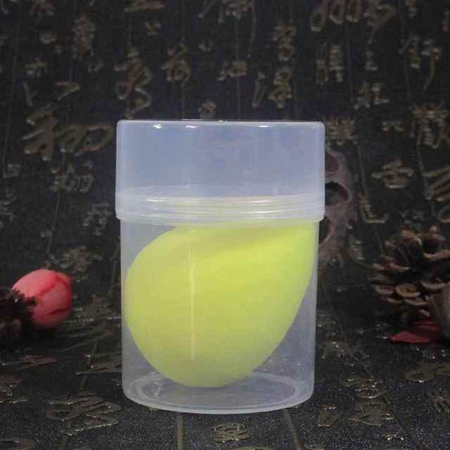 ELECOOL Dropship 1pc Water Droplet Sponge Smooth Great Makeup Foundation sponge Powder Make Up Puff Beauty Puff with Holder Box 2