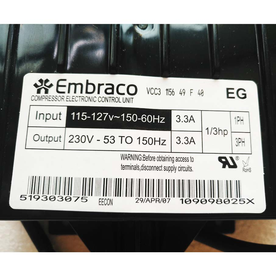 New 0193525189 Embraco VCC3 1156 Inverter Board 115V For Haier Refrigerator