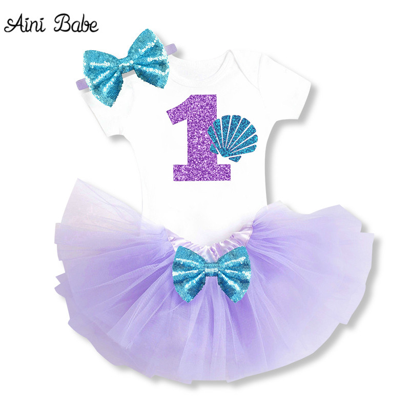 1 Year Birthday Party Clothing For Toddlers Little Cotton Vest and Mini Dress Bowknot Decoration Tutu Dress Casual Wear Vestidos