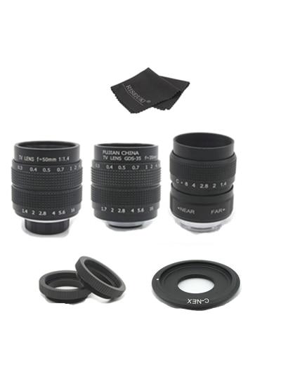 FUJIAN 35mm F1.7 CCTV Movie Lens + 25mm f1.4 TV Lens + 50mm f1.4 TV Lens for SONY E Mount A6500 A6300 A6100 NEX Series CameraFUJIAN 35mm F1.7 CCTV Movie Lens + 25mm f1.4 TV Lens + 50mm f1.4 TV Lens for SONY E Mount A6500 A6300 A6100 NEX Series Camera