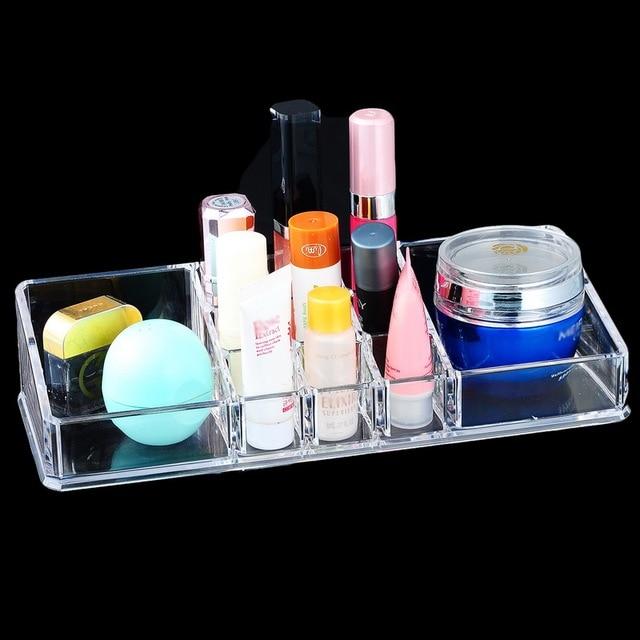 Clear Acrylic Storage Box Cosmetic Makeup Organizer Case Jewelry Storage  Box Rangement Mascara Lipstick Holder 22.5