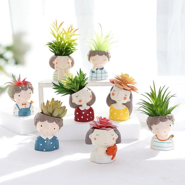 1 pezzo all'ingrosso Vaso di Fiori Giardino di Casa Mini Bonsai Cactus Fioriera