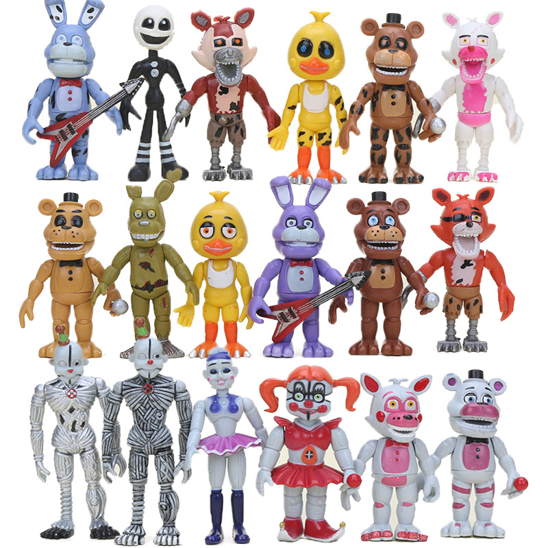 18pcs FNAF PVC Action Figure Set Sister Location Chica