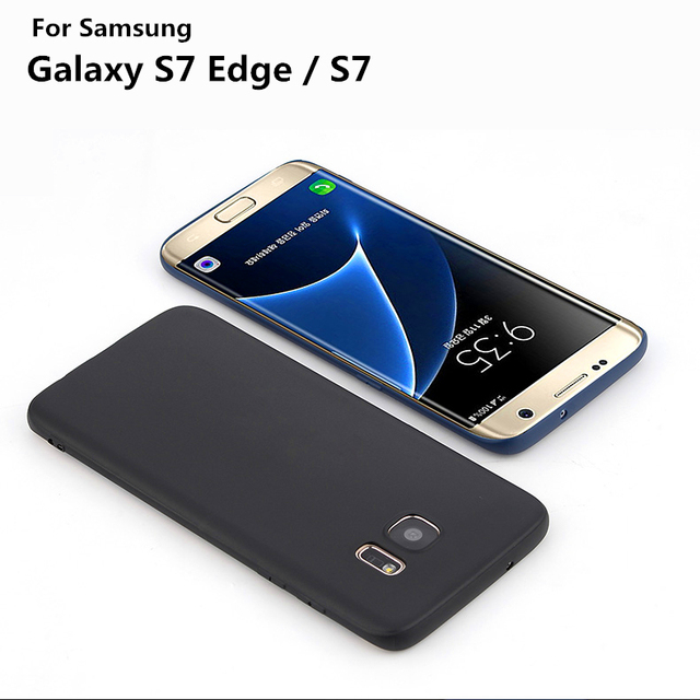 finest selection f5772 7c325 US $4.69 |Ultra Thin [ Perfect Slim Fit ] Soft Touch Flexible Protect Case  Back Cover Case for samsung galaxy S7 edge [matte black]-in Fitted Cases ...