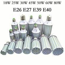 Светодиодный лампы E27 E26 E39 E40 SMD Светодиодная лампа светильники 18W 25W, 30 Вт, 40 Вт, 50 Вт, 60 Вт 80W100W лампада люстра в форме свечи освещения для домаш...