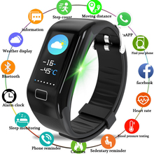 LIGE Smart Sport Bracelet Men Women Wristband Heart rate blood pressure monitoring Fitness Weather View Digital Clock