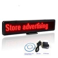 Oferta 56cm tienda LED cartel de publicidad rodante tablero de visualización de mensajes multifuncional USB programable carga