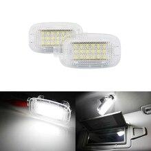 Белый светодиод любезно двери автомобиля для ног чемодан багажник туалетный зеркало бардачок светильник для Benz W204 W216 W212 C207 X204 GLK W221 R230