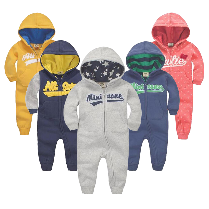 spring Autumn Baby rompers Hooded baby boys clothes Newborn Cotton Clothes streetwear Long Sleeve Infant Boys Girls jumpsuit cotton cute red lips print newborn infant baby boys clothing spring long sleeve romper jumpsuit baby rompers clothes outfits set