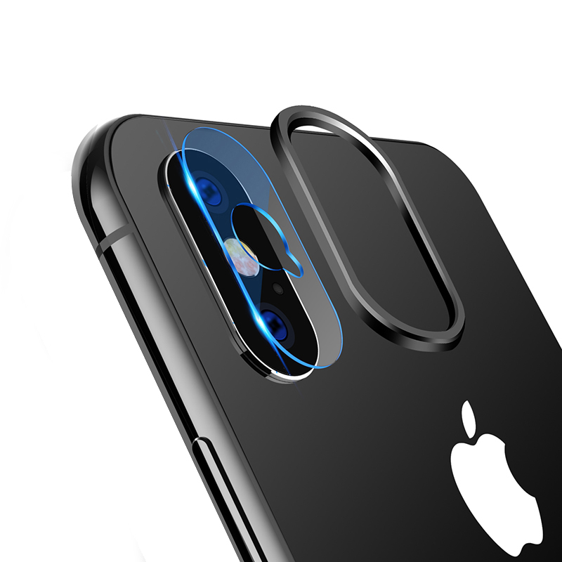 For IPhone Xs Max X XR 6 7 8 Plus 6s Camera Lens Protector Soft Tempered Glass Back Lens Film Protection Ring Phone Accessories