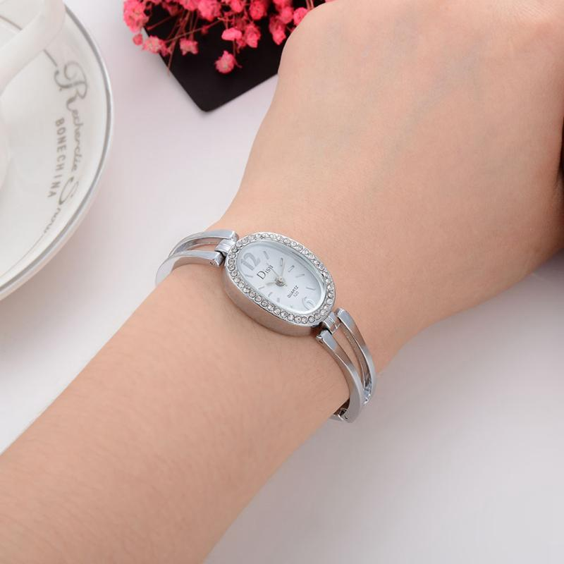 Rhinestones Ladies Watch Women's Bracelet Clock Luxury Women Quartz Wristwatch Alloy Band Dress Watches 2016 women diamond watches steel band vintage bracelet watch high quality ladies quartz watch