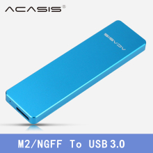 Acasis M2 / NGFF to USB3.0 M.2 Hard Disk Drive Box SSD Enclosure Case Aluminum 1153E Chip Support 2242/2260/2280 USB 3.0