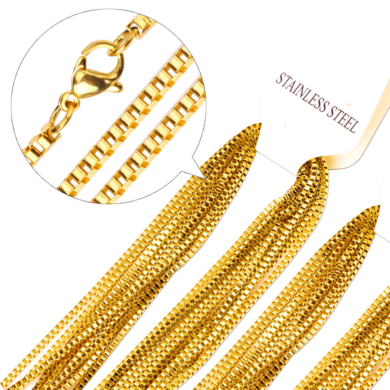 Prix pour En vrac 10 PCS 2mm Largeur Or Popcorn Style Chaîne Bijoux Rolo Lien Chaînes de Collier, En Gros Prix avec Haute qualité.