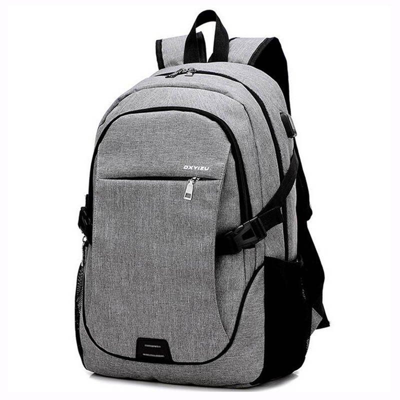 2018 Fashion Men Backpacks canvas Bags For Teenagers girls 15.6 Inch Laptop Bag Backpack USB Large Capacity casual Backapck voyjoy t 530 travel bag backpack men high capacity 15 inch laptop notebook mochila waterproof for school teenagers students