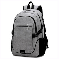 Men S Backpack Canvas External USB Charging Laptop Backpacks School Backpack Anti Theft Bags For Men