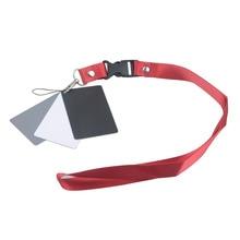 Digitale Camera 3 In 1 Zakformaat Wit Zwart Grijs Balance Kaarten Grijs Kaart Met Neck Strap Touw Voor digitale Fotografie Camera