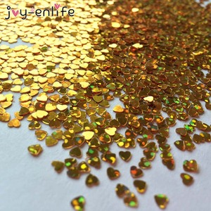 1000pcs Golden Heart Confetti Wedding Confetti Scatter For Birthday Party Valentine's Day Wedding Table Decoration Supplies