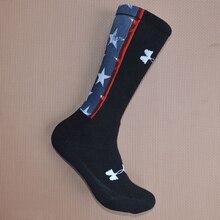 Профессиональные баскетбольные носки для футбола флаг США узор толстые Полотенца для мужчин фитнес, Спорт Бег походы Велоспорт носки