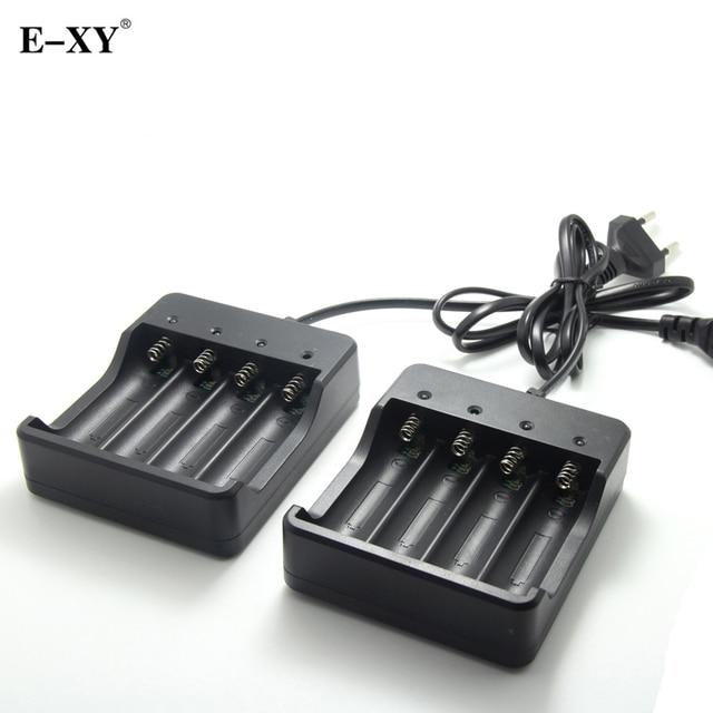 E-XY Battery Charger EU/MỸ cắm 4 Khe Cắm Thông Minh Điện Tử Charger thuốc lá đối với 4X18650 lithium-ion pin có thể sạc lại