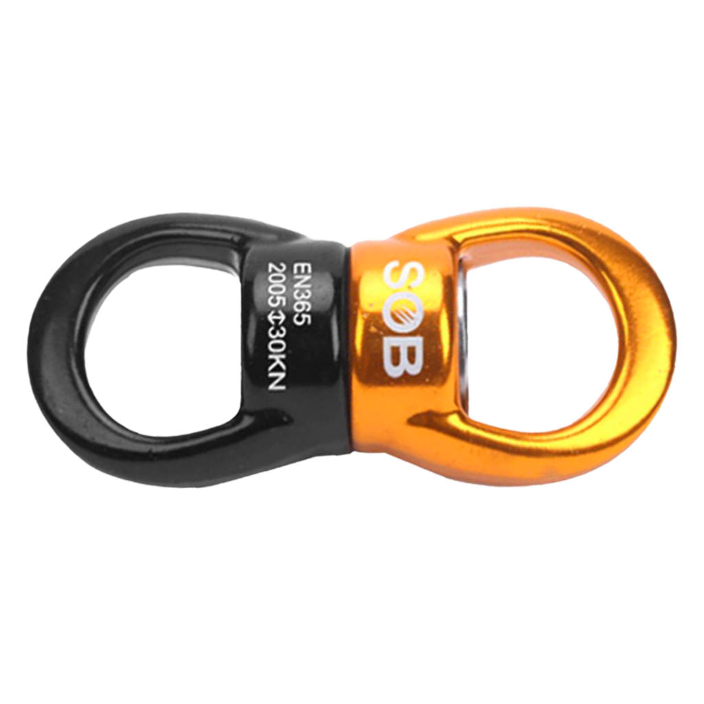 30KN Rotational Device Climbing Safety Swivel Rotator For Rock Climbing Outdoor Rescue Aerial Work Rappelling Accessories