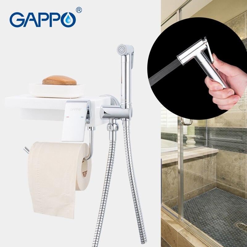 GAPPO torneiras bidé bidé chuveiro higiênico pulverizador bidé torneira multifuncional água de toalete bidé torneiras para banheiro prateleira titular